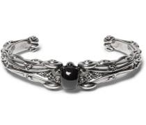 Skull Silver-plated Cuff