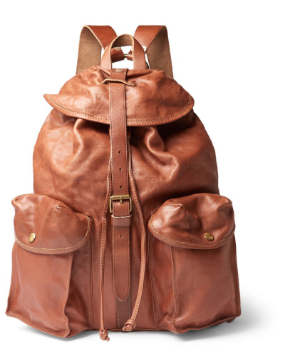Riley Leather Backpack - Tan
