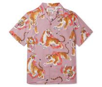 + Tim Lehi Camp-Collar Printed Woven Shirt