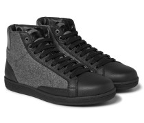 Gymnasium Leather And Felt High-top Sneakers