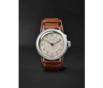 Big Crown 1917 Limited Edition Automatic 40mm Stainless Steel and Leather Watch, Ref. No. 01 732 7736 4081-Set LS