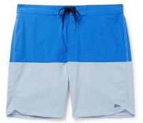 + Pilgrim Surf + Supply Long-Length Color-Block Swim Shorts