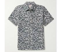 Seasons Printed Slub Organic Cotton-Jersey Shirt