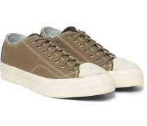 Skagway Cotton-canvas And Leather Sneakers