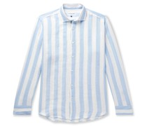 + Johannes Huebl Striped Linen Shirt