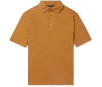 Garment-Dyed Cotton-Pique Polo Shirt