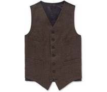 Oxford Slim-Fit Prince of Wales Checked Wool Waistcoat