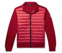 HyBridge Quilted Down Shell and Merino Wool Jacket