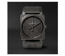 Phantom Automatic 42mm Ceramic and Rubber Watch, Ref. No. BR0392‐PHANTOM‐CE