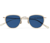 D-Frame Acetate and Gold-Tone Sunglasses
