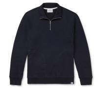 Alfred Loopback Cotton-Jersey Half-Zip Sweatshirt