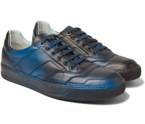 Spray-painted Leather Sneakers