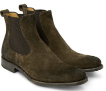 Bristol Burnished-suede Chelsea Boots