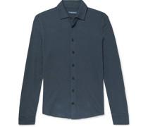 Slim-Fit Cotton and Linen-Blend Jersey Shirt