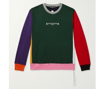 Logo-Embroidered Colour-Block Loopback Cotton-Jersey Sweatshirt