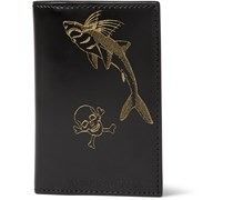 Printed Bifold Leather Wallet