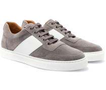 Mr Jones Bolt Leather-panelled Suede Sneakers