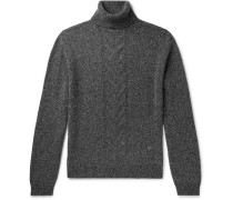 Slim-Fit Cable-Knit Wool Rollneck Sweater