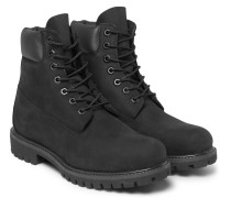 Premium Waterproof Leather-trimmed Nubuck Boots