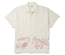 Embroidered Cotton-Canvas Shirt