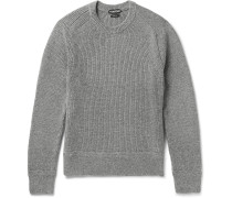 Slim-fit Ribbed Wool And Silk-blend Sweater