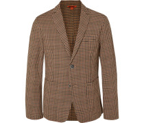 Slim-Fit Checked Virgin Wool-Blend Blazer