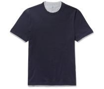 Layered Cotton-jersey T-shirt