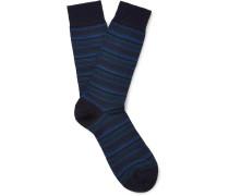 Stannard Striped Wool-blend Socks