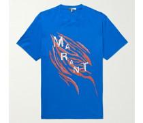 Zeber Printed Cotton-Jersey T-Shirt