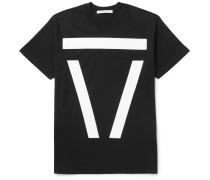 Columbian-fit Appliquéd Cotton-jersey T-shirt