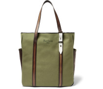 Chill Out Canvas And Polished-leather Tote Bag