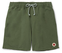 Mid-Length Cotton-Blend Swim Shorts