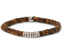 Tiger's Eye And Silver Bead Bracelet