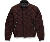 Prorsum Leather-trimmed Quilted Shell Bomber Jacket