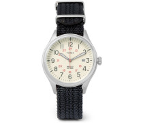 Waterbury United Stainless Steel And Nylon-webbing Watch