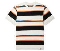 Sunder Logo-Appliquéd Striped Cotton-Jersey T-Shirt