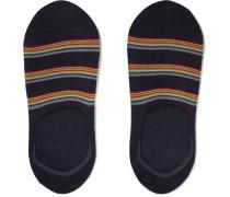 Striped Stretch Cotton-blend No-show Socks