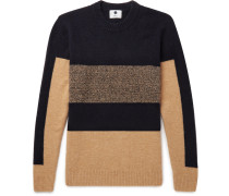 Colour-block Stretch-knit Sweater