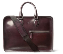 Deux Jours Polished-leather Briefcase