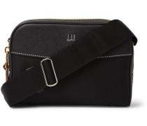 Full-Grain Leather-Trimmed Nylon-Canvas Messenger Bag