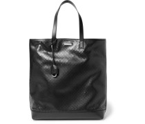 Perforated Leather Tote Bag