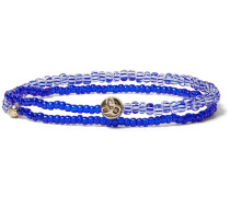Glass And Gold Bead Wrap Bracelet