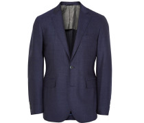 Blue London Slim-fit Mélange Wool Blazer