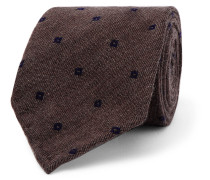 7cm Embroidered Wool And Silk-blend Tie