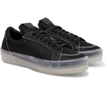 V1 Leather-Trimmed Nylon Sneakers