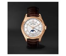 Fiftysix Automatic Complete Calendar 40mm 18-Karat Pink Gold and Alligator Watch, Ref. No. 4000E/000R-B438