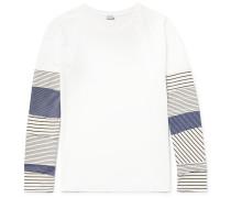 Patchwork Cotton-jersey T-shirt
