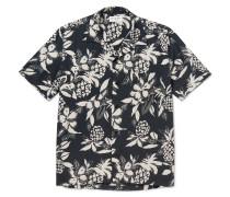 Camp-collar Floral-print Voile Shirt