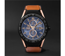 + Tag Heuer Connected Modular 45mm Ceramic And Leather Smartwatch