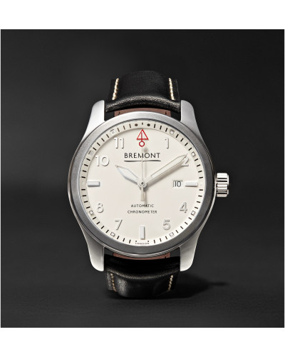 SOLO P/W Automatic 43mm Stainless Steel and Leather Watch